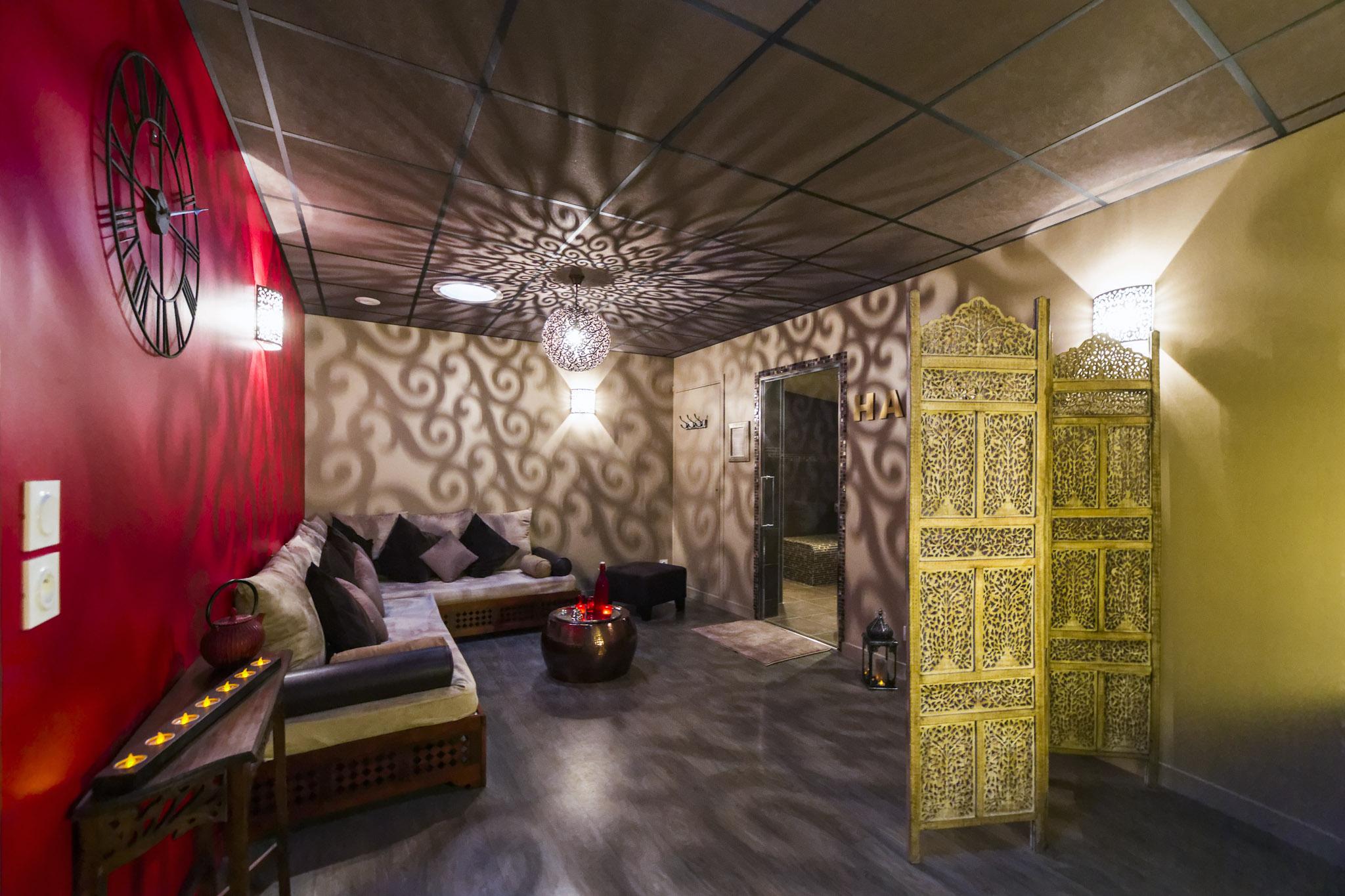 salle détente hammam